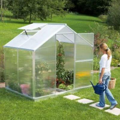 Szklarnia ogrodowa 3,55 m2 aluminiowa poliwęglan